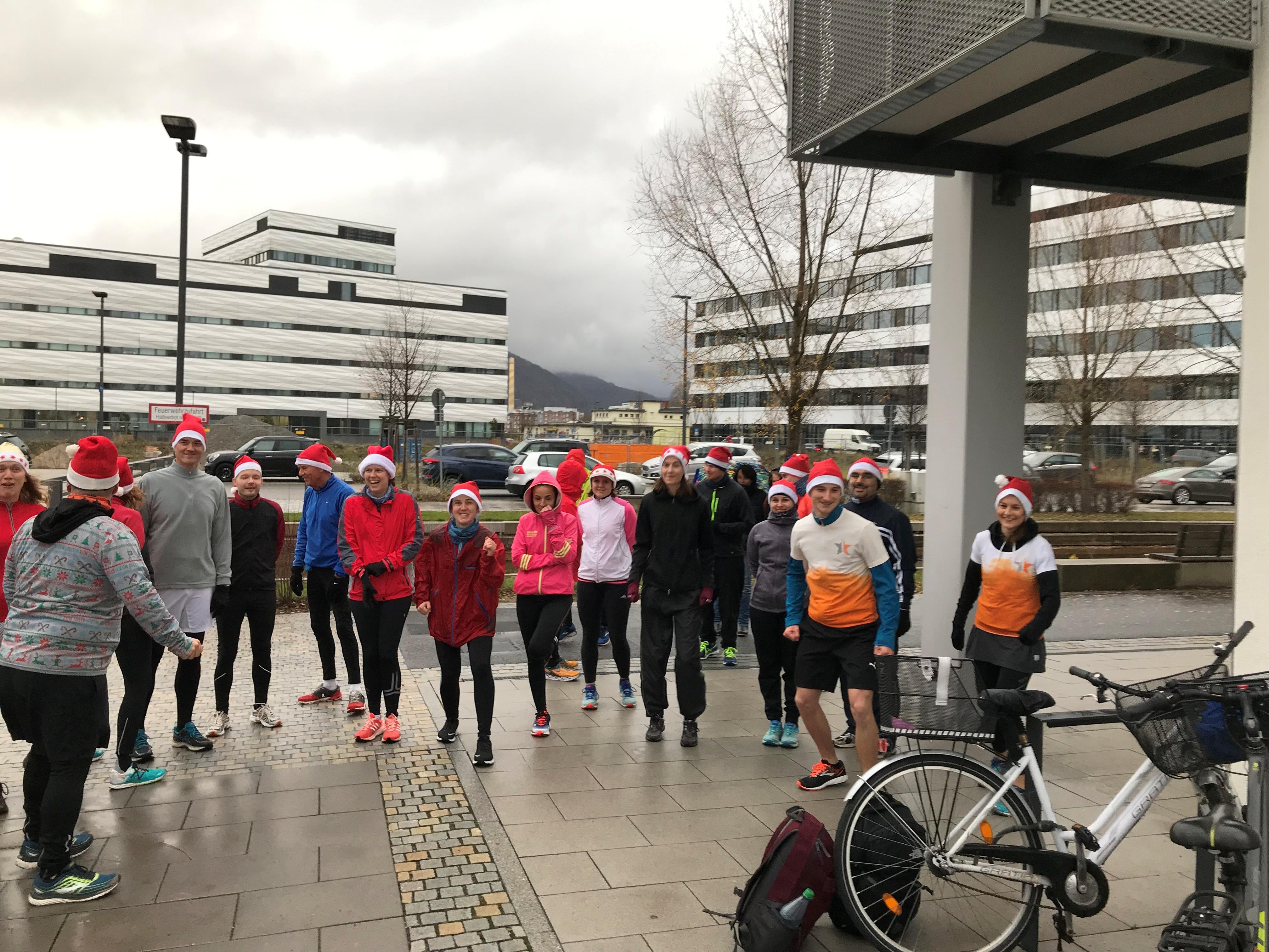 Nikolauszipfelmützenlauf 2018 coole Stimmung vor dem Start